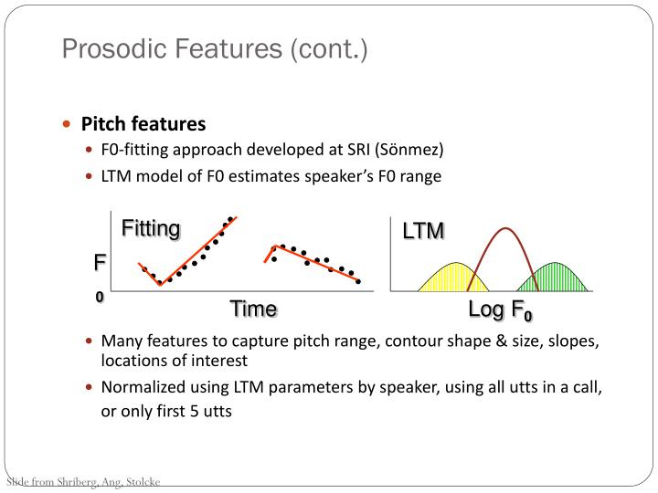 Prosodic Features (cont.)