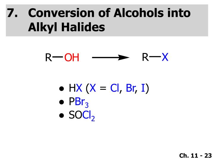 Conversion of Alcohols into