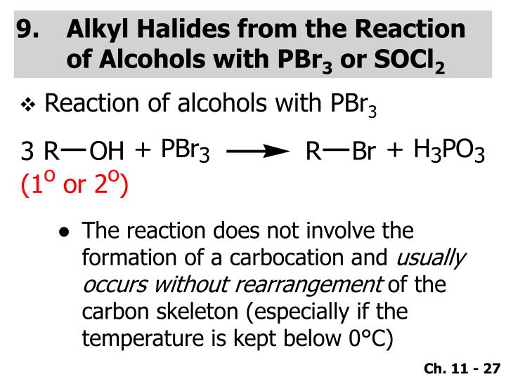 Alkyl Halides from the Reaction