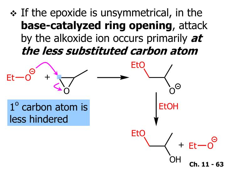 If the epoxide is unsymmetrical, in the