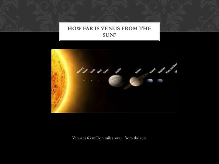 How far is venus from the sun