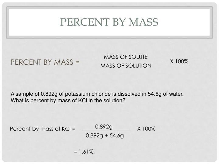 Percent by mass
