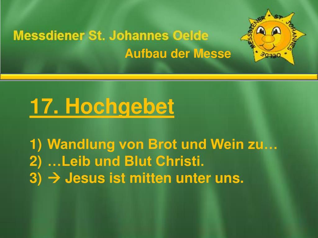 Ablauf Der Heiligen Messe