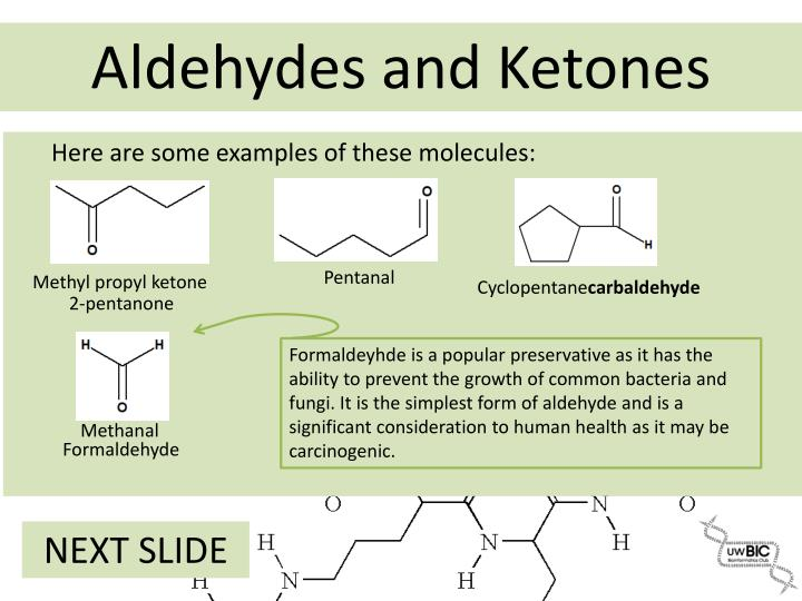Here are some examples of these molecules: