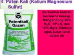 4 paten kali kalium magnesium sulfat