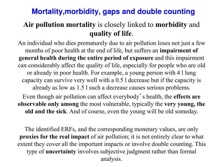 Air pollution mortality