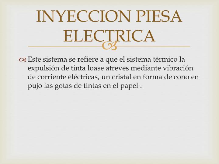 INYECCION PIESA ELECTRICA