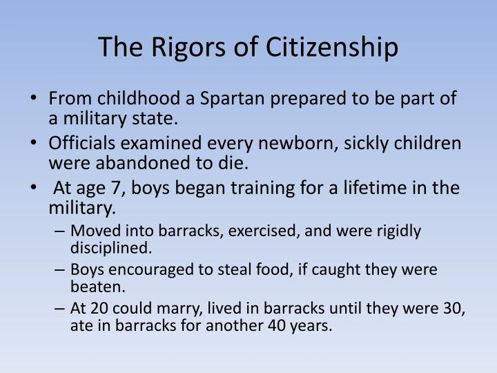 The Rigors of Citizenship