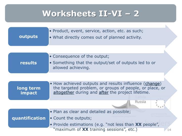 Worksheets II-VI – 2