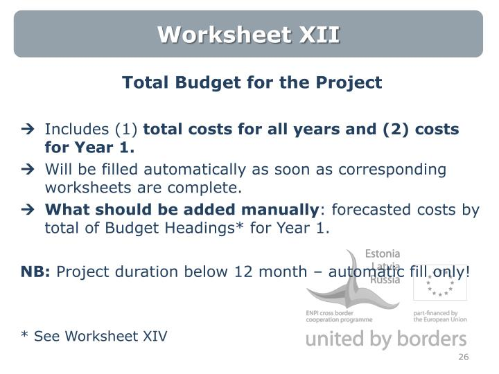 Worksheet XII