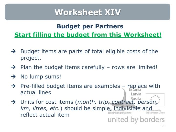 Worksheet XIV