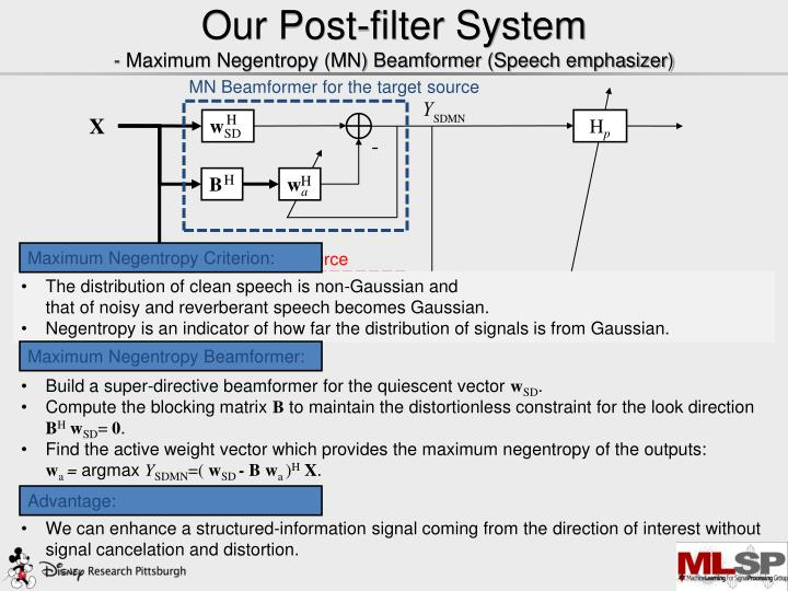 Our Post-filter System