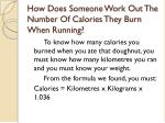 how does someone work out the number of calories they burn when running
