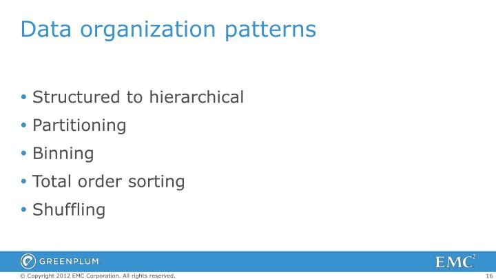 Data organization patterns