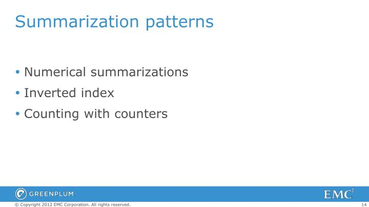 Summarization patterns