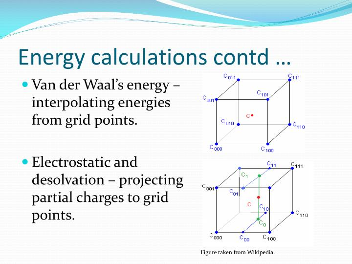 Energy calculations contd …