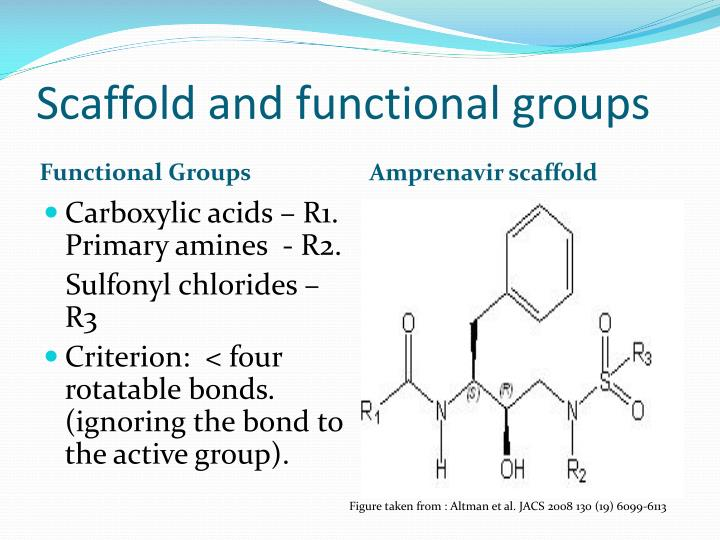 Scaffold and functional groups
