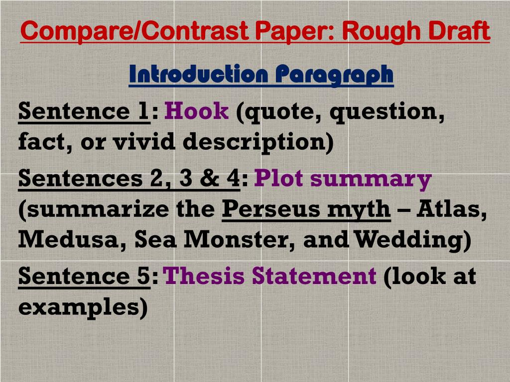 how to write an introduction paragraph for compare and contrast