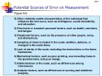 potential sources of error on measurement