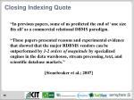 closing indexing quote