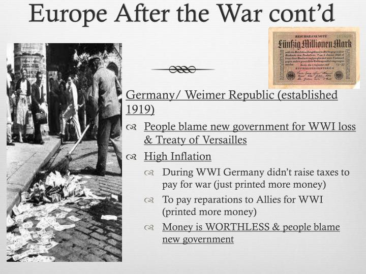 Europe After the War cont'd