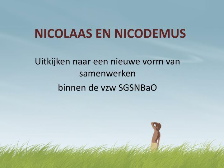 Nicolaas en nicodemus