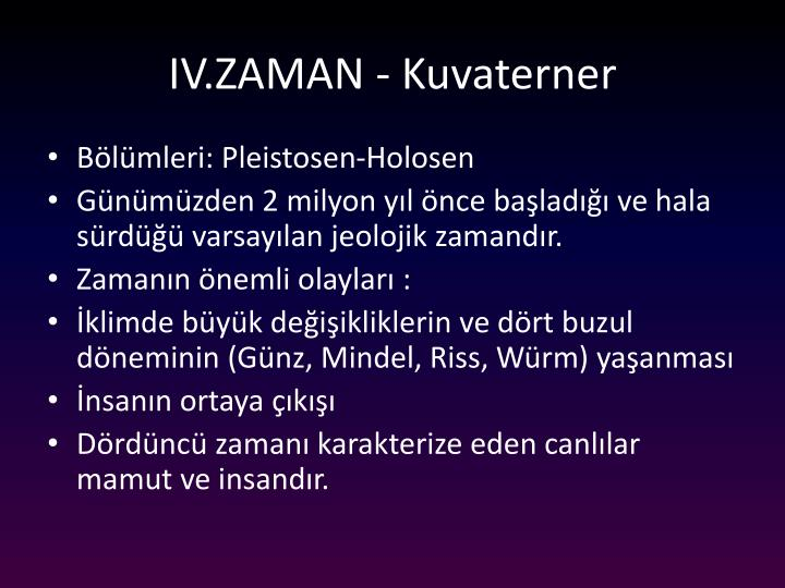 IV.ZAMAN -