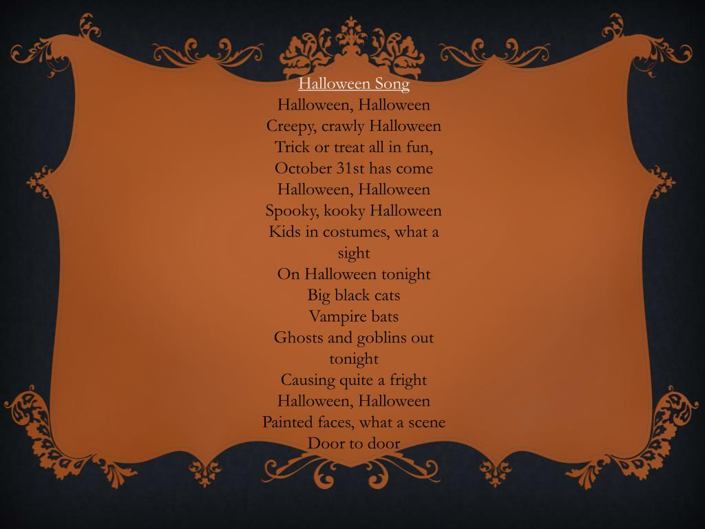 PPT - Halloween Program PowerPoint Presentation - ID:2069714