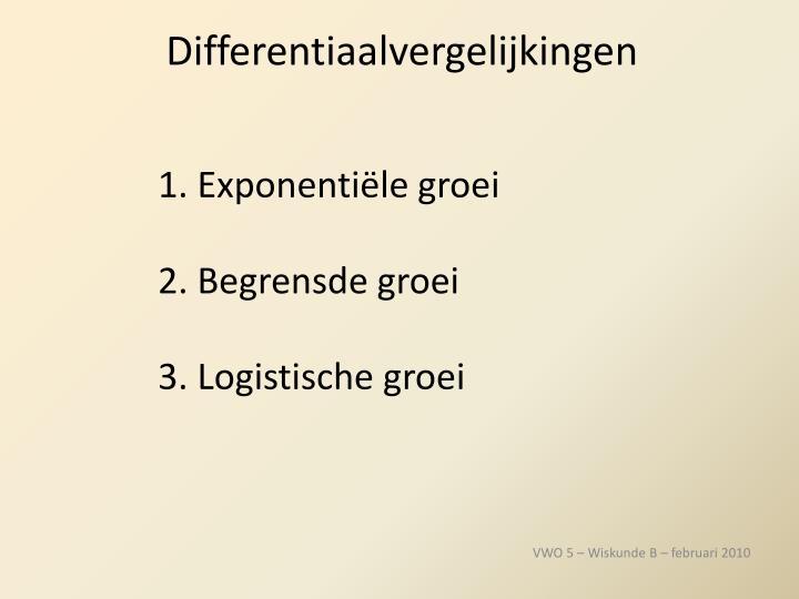 Differentiaalvergelijkingen1