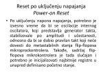 reset po uklju enju napajanja power on reset