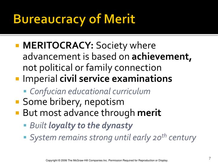 Bureaucracy of Merit