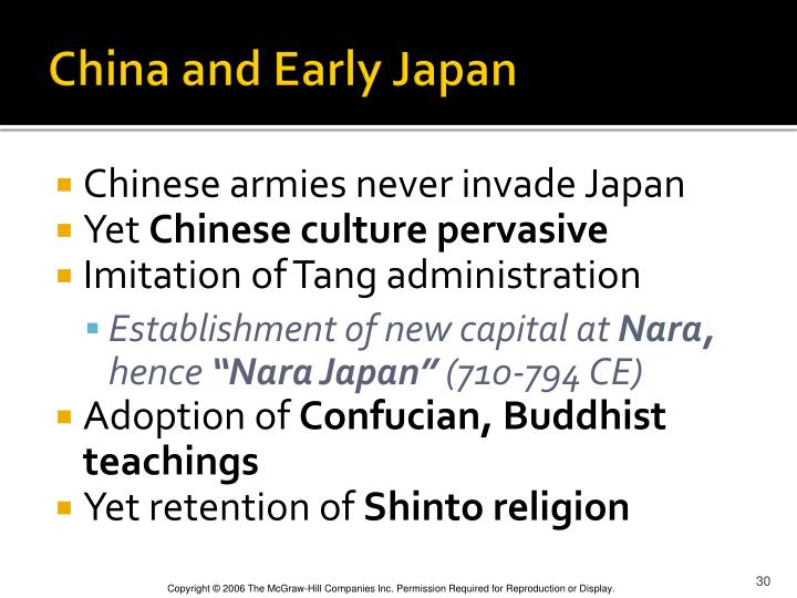 China and Early Japan