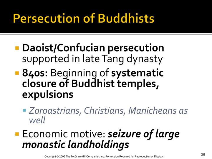 Persecution of Buddhists