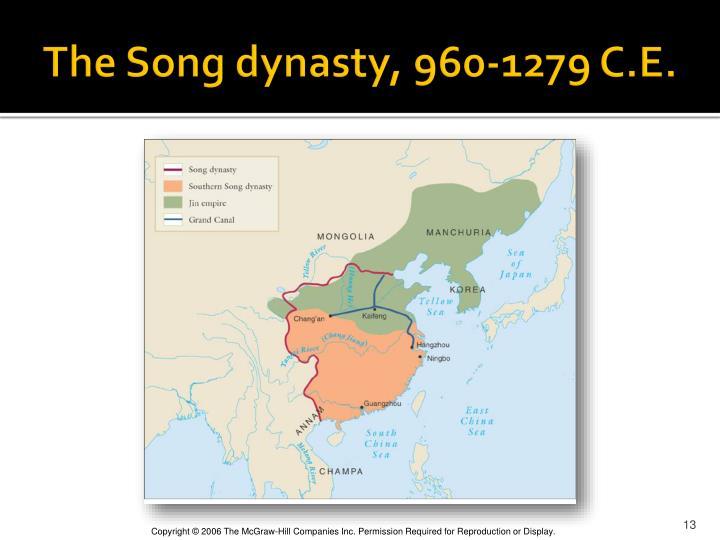 The Song dynasty, 960-1279 C.E.