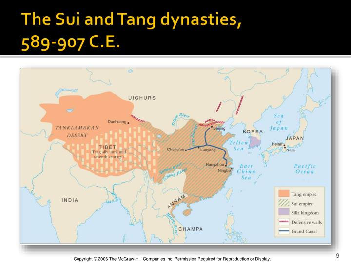 The Sui and Tang dynasties,