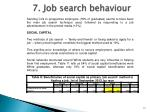 7 job search behaviour