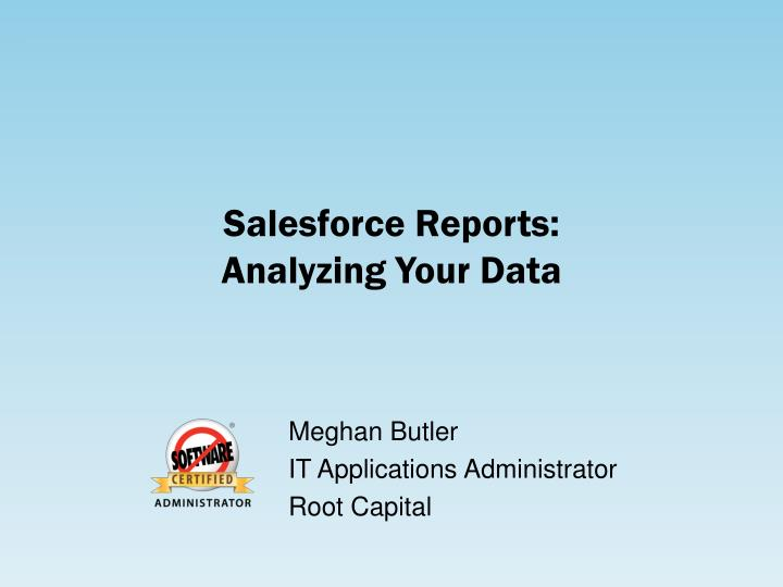 salesforce reports analyzing your data n.