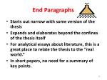 end paragraphs