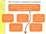 vzor struktury rozhodnut o privatizaci
