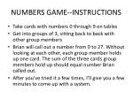 numbers game instructions