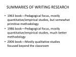summaries of writing research1