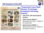 sat sessions at the aas