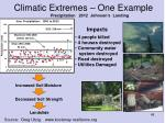 climatic extremes one example