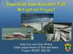 dworshak dam resident fish mitigation project