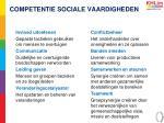 competentie sociale vaardigheden