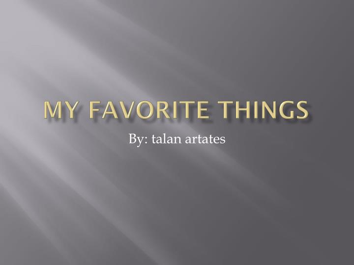 my favorite things n.