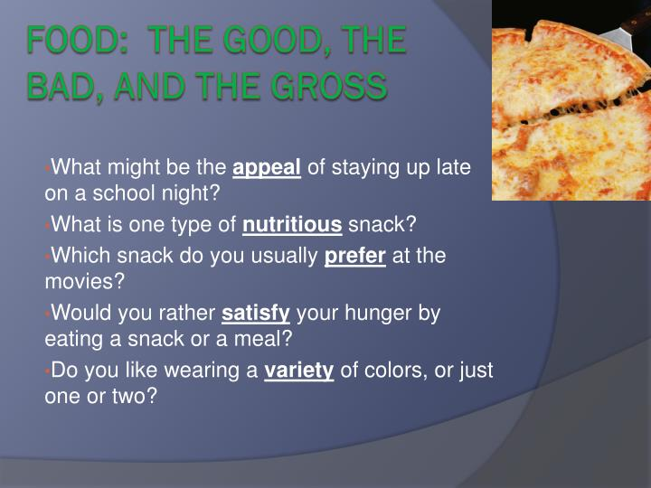 food the good the bad and the gross n.