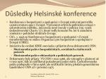 d sledky helsinsk konference