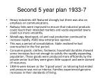 second 5 year plan 1933 7