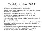 third 5 year plan 1938 41